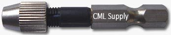 Mini Drill Chuck 1/4 Hex Shank for Micro Drill Bits by CML Supply