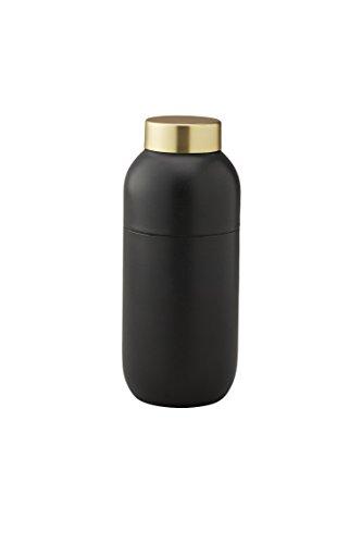 Stelton 424 Collar Coctailshaker 500 ml. / Messbecher 2 & 4 cl, Schwarz-Gold