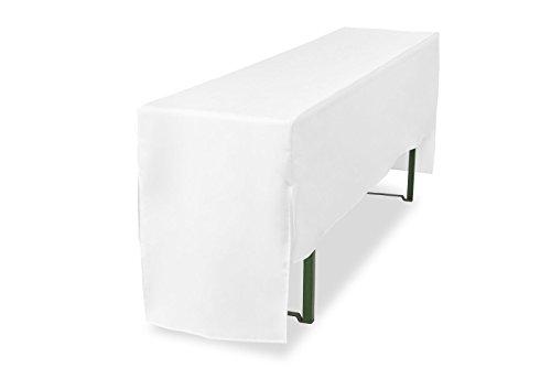 Biertischhusse halblang für Bierzelttischhusse Premium Pro (nur Tisch) 220 cm (Weiß, Tischbreite:...