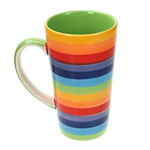 Windhorse Rainbow Large Ceramic Hot Chocolate Tee Kaffee Latte Tasse