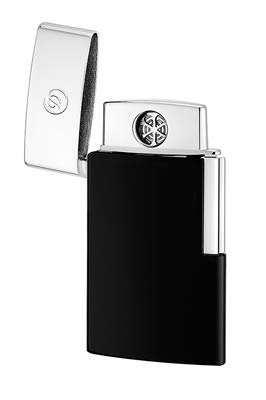 S.T. Dupont 027004E Elektrisches Feuerzeug E-Slim Schwarz