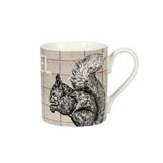 Queens Country Eichhörnchen Becher/ Tasse aus feinem Porzellan, Braun
