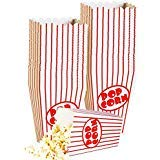 Boxen - Papier Popcorn Boxen gestreift rot und weiß - ideal für Film Nacht Oder Film Party Thema, Theater Motto Dekorationen oder Karneval Party Circus etc.. (40) ()
