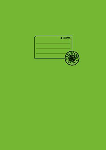 Herma 5538 Papier Heftumschlag DIN A4 aus 100% Altpapier, hellgrün, 1 Heftschoner für Schulhefte