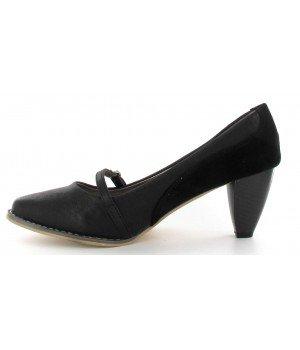 Chaussure Bas Prix - Escarpins noirs - CL-256-1 Noir