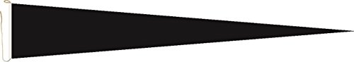 Haute Qualité pour U24 Long Fanion Drapeau Noir 250 x 40 cm