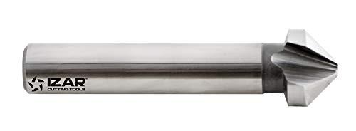Izar 74670 Avellanador Mango Cilíndrico 3Z 90°, HSSE 5% Co, 2575, DIN 335 C, 16.50 mm Diámetro Corte