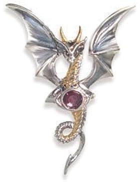 Himmlischer Drache - Für inneren Frieden - Anne Stokes Mythische Gefährten Amulette - Aus 925er Sterling Silber...