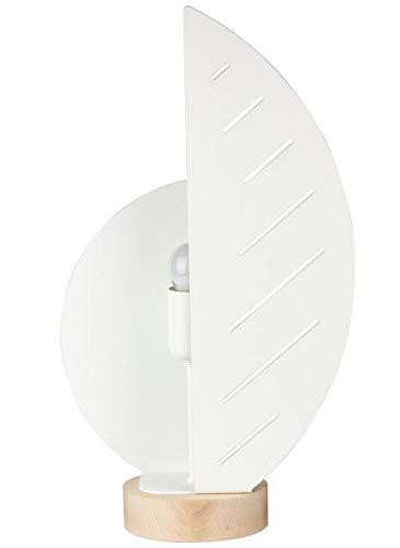 Lampe de salon PLUME blanche en métal