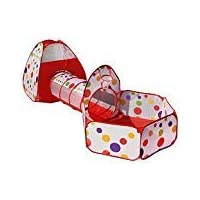 Travel Dream Foldable Pop up Kids Toddler Play Tent Indoor Outdoor Use Tunnel Ball Pit