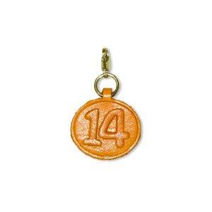 14/14/14. Leder Geburtsdatum Nummernschild klein Charme mit Gelenk Connect Schlüsselanhänger Haken Vanca craft-made in Japan (Charms Japanische Für Telefon)