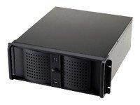 Fantec TCG-4880X07-1 carcasa de ordenador Rack Black - Caja de ordenador (Rack, Server, Aluminium, EATX, Black, 4U)