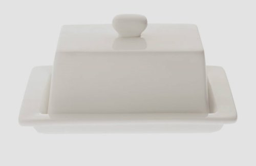 Maxwell and Williams White Vogue Butter Dish
