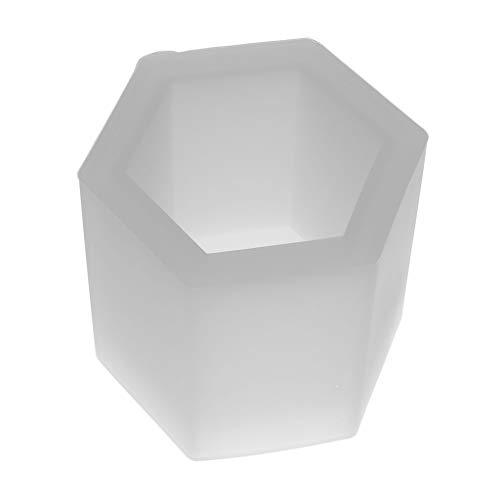 Hellery Hexagon Form Silikonform Pflanze Blumentopf Silikonform Kuchenform Torte Form für Kuchen backen
