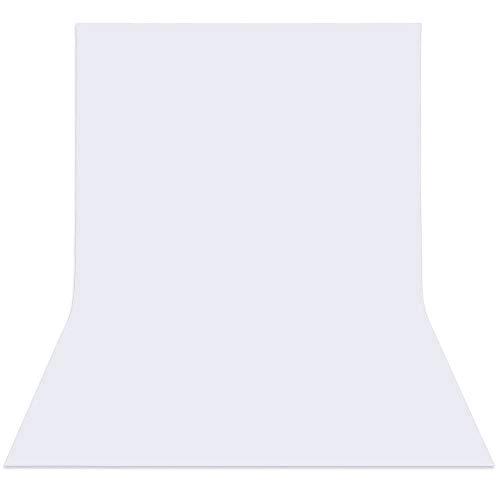 Fondo de la Foto de Estudio Fondo de Tela de Lona Color no Tejido Blanco 3.0 * 1.6m Densidad de Fondo de telón de Fondo 100g/m2 en Material de