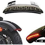 Ankia Motorrad gehackte hinten Fender Edge LED Bremse Kennzeichenbeleuchtung Rücklicht Stop Running...