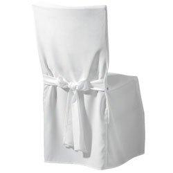 weiße Husse Auflage Hussen für Stuhl