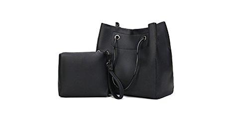 Mefly Il Nuovo Big Bags Semplice Borsetta In Pelle Rosa black