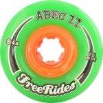 ABEC 11 Rides Green Skateboard Wheels - 77mm 84a (Set of 4)