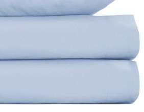 Louisiana Bedding 100% Cotton 200 Thread Count Fitted Sheet, Single Double King SuperKing, Light Blue - inexpensive UK light store.