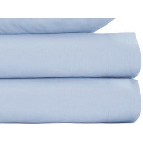 Lenzuola Louisiana Blu Chiaro 100% Cotone 200 Filati Singolo Doppia King Superking