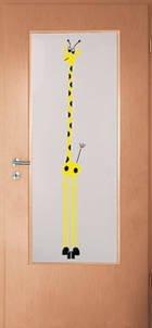 Kunststoff Türfüllung Lichtausschnitt Giraffe 4,5 mm Acrylglas 1420 x 535 mm für 86 cm Türblattbreite