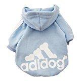 Vêtements pour chien Vêtement qui tient chaud pour les chiens en hiver, Adidog T-shirt de coton, Hoodie de chien bien chaude et toute douce, vêtement indispensable pour un hiver bien au chaud
