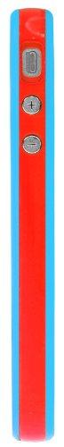 Horny Protectors Bumper avec boutons en métal pour Apple iPhone 4(non 4S) bleu/rouge