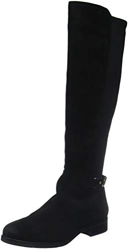 Tommy Hilfiger Damen TH Buckle HIGH Boot Stretch Hohe Stiefel, Schwarz (Black 990), 38 EU