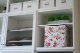 """4 x Ikea Regalfach """"Dröna"""" Aufbewahrungsbox Regaleinsatz in 33 x 38 x 33 cm (B x H x T x H)), mit Rosen-Design"""