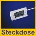 Thebo 17906 Steckdosenelement E 3900/ST2, Edelstahl - 4 3 Eckigen Stecker