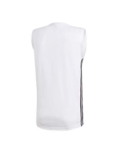 adidas Herren DESIGN2MOVE Sleeveless 3S Tank Top, White, M - Adidas Training Top