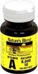 Nature's Blend Vitamin A 8,000 IU 100 Softgels from National Vitamin Company