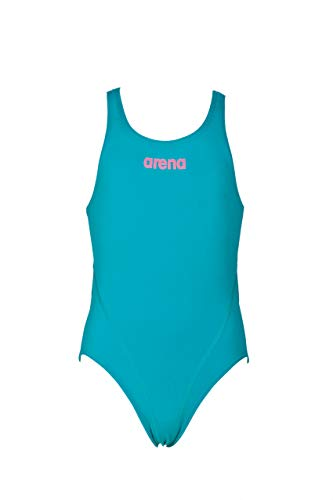 arena G Solid Swim Jr Kostüm Tech für Mädchen, Kind, 2A262, Persian Green/Aphrodite, 14-15