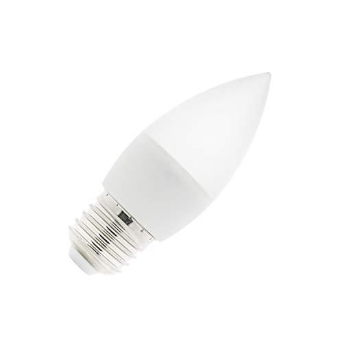 Bombilla LED E27 C37 5W Blanco Frío 6000K-6500K efectoLED
