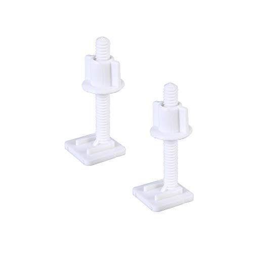 Yardwe 4 stücke Wc-sitzscharnier Schrauben Kunststoff Weiß Wc-sitzscharnier Schraube mit Muttern Set für Top Mount Wc-Sitz Scharniere 27x27mm -