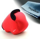 MegaGear Ultraleichte Kameratasche aus Neopren-Marterial für Nikon V3 mit 10-30 Objektiv (Rot)