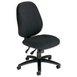 Trexus Intro Maxi Operator Chair Asynchronous High Back H590mm W530xD470xH480-610mm Charcoal