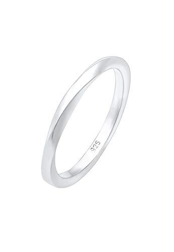 Elli Ring Damen Gedreht in 925 Sterling Silber