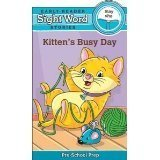 Kitten's Busy Day - 'May' & 'She' (Early Reader Sight Word Stories Pre-School Prep) Board Book by Beaver Books Prep Board