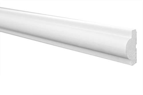 20 Meter | Styropor Flachleiste | Decke | stabil | weiß | Stuckprofil | Zierleiste | leicht | dekorativ | XPS | 11x23mm | E-27