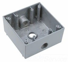 Pass & Seymour wpb232 2 G WP Box w/3 1/2 Hubs -