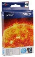 Brother LC-980C cartucho de tinta – Cartucho de tinta para impresoras (Cian, 260 páginas, MFC-250C, DCP-145C, MFC-255CW, MFC-290C, MFC-295CN, DCP-165C, DCP-195C, DCP-375CW, DCP-365CN, 7,4 cm, 1,2 cm, 9,3 cm) Si