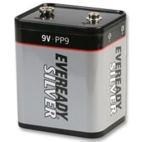 Ever Ready 601162 non-Batteria ricaricabile, ever Ready argento, a singolo, in zinco carbone, 4500 mAh, 9 V, pp9