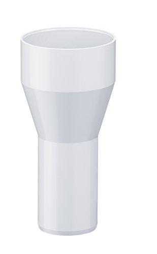 INEFA Reduzierstück DN 75/50, Weiß Kunststoff, Regenrinne, Dachrinne