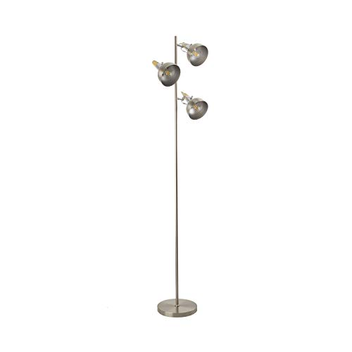 Lámpara de Pie Emer 3 Focos Plata PlataPlata