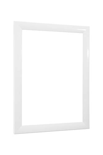 NiRa35-Top Cadre Photo 25x35 cm en Couleur Blanc Brillant avec Verre Acrylique antireflet