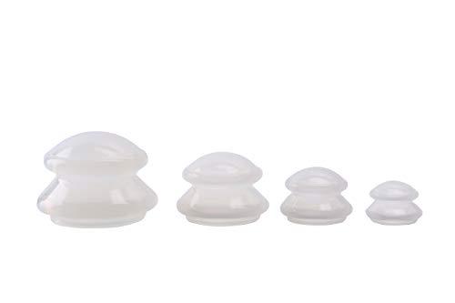Feibrand Silikon Anti Cellulit Cupping Set 4 Cup Vakuum Massage Schroepfen