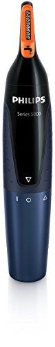Philips NT5180/15 - Recortador de vello, nariz y orejas, resistente al agua, negro y azul oscuro