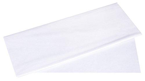 Rayher 67270102 Seidenpapier, weiß, 50x75cm, 5 Bogen, 17g/m², lichtecht, farbfest, leicht transparentes, dünnes Papier, Geschenkpapier, Papier zum Basteln